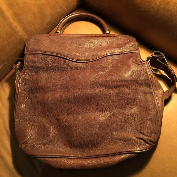 BCBG Maxazria Foldover Leather vintage style bag